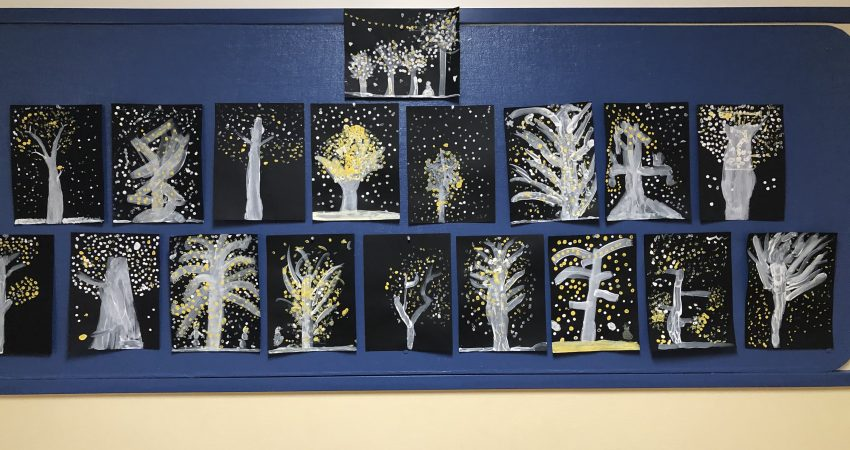 Trees Sparkling in the Evening by Division 7